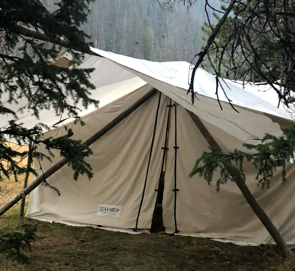Wall Tent For Backcountry Hunting Accommodations