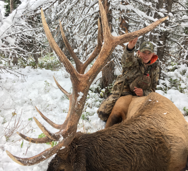 WRO Client With Late Season Bull Elk