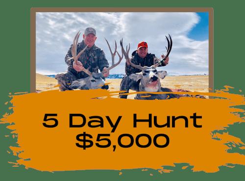5 Day Deer Hunts In Wyoming