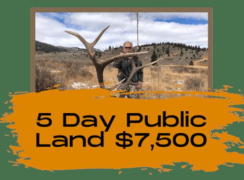 5 Day Private Land Bull Elk Hunt